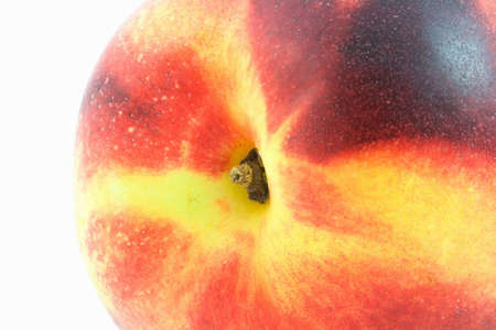 Isolated photo of a big fresh nectarine