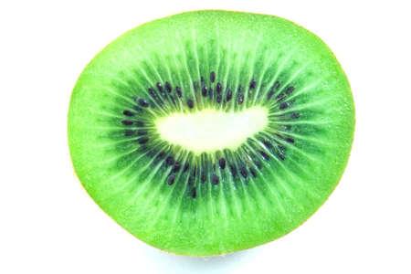 freshest: Isolated macro photo of a fresh kiwi