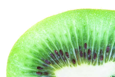 Isolated macro photo of a fresh kiwi
