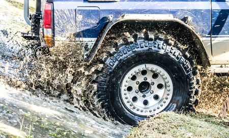 Auto stuck in the mud