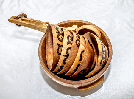 Kazakh wooden tableware