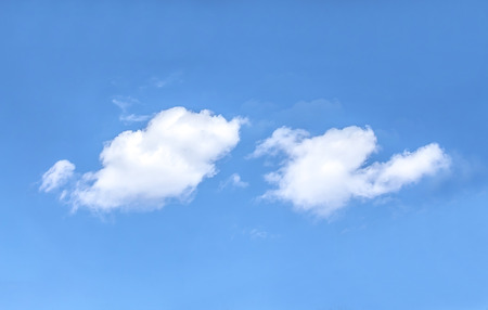Beautiful white clouds against the blue sky