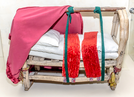 Ancient Kazakh bed for a child