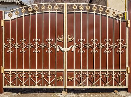 Details of metal gates Archivio Fotografico