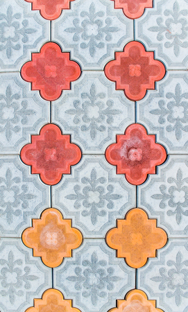 Sidewalk tiles as background Stock Photo