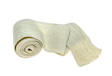 Elastic bandage on a white background Stock Photo