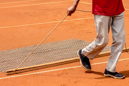 Tennis training ground courts to competitions Stock Photo