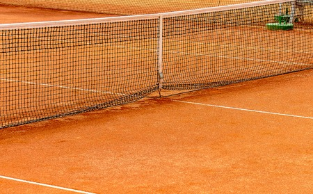 Tennis clay court close-up