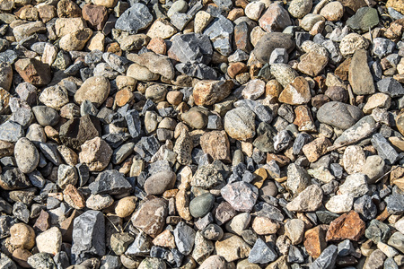 Stones on the railway embankment as a background Imagens