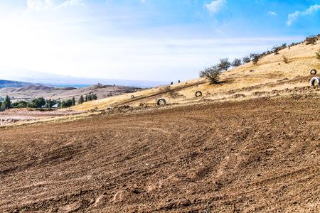 Motocross track landscape