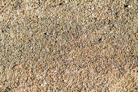 Sand on the beach as a background close-up