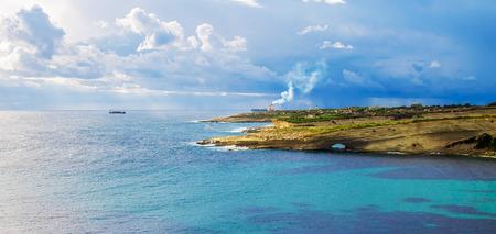Krajobraz zatoki morskiej
