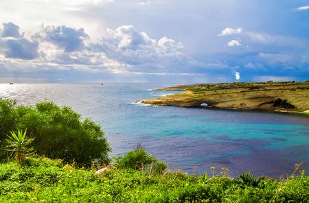 Sea bay landscape Фото со стока