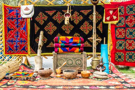 The interior of the Kazakh yurt 写真素材