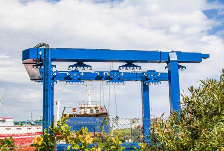 Gantry crane in port