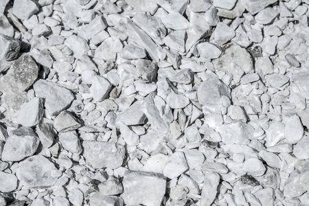 grauer Marmorsteinschutt als Hintergrund