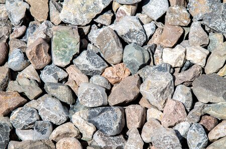 Stone building rubble as an abstract background
