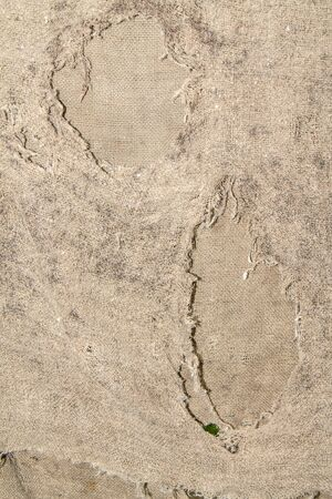 Old ragged floor cloth as an abstract background