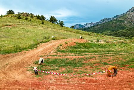 Track for the motocross competition. Landscape