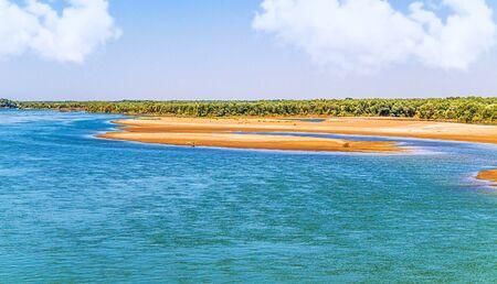 River in Kazakhstan Syr Darya. Landscape
