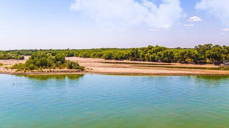 River in Kazakhstan Syr Darya. Landscape Stock fotó