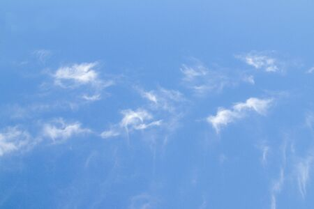 White clouds close-up on a blue sky 写真素材