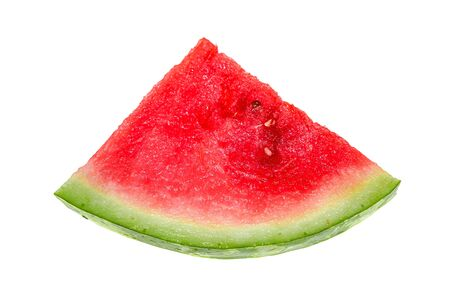 Slices of ripe watermelon on a white background