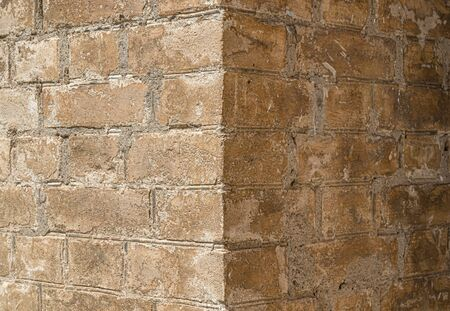 Old brick wall as background close-up 写真素材