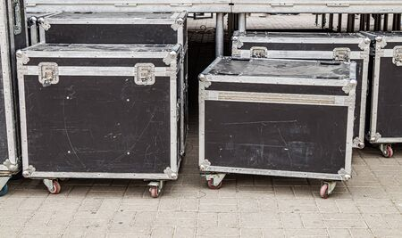 Boxes of a case for musical equipment 写真素材