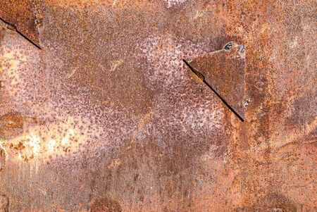 Dirty rusty metal surface as abstract background for design