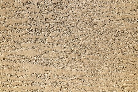 Wall plastered with putty bark beetle painted as background for design