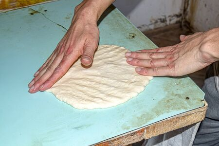 Making Asian flat bread loaf in unsanitary conditions