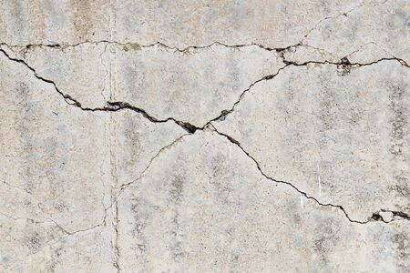 Cracked concrete wall as background.Selective focus