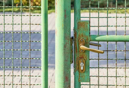 Metal fence mesh with lock