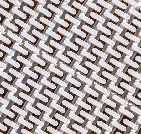 White lattice abstract plastic background close-up Banque d'images