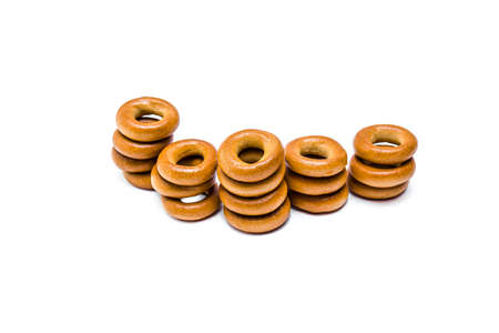 Bagels confectionery on a white background