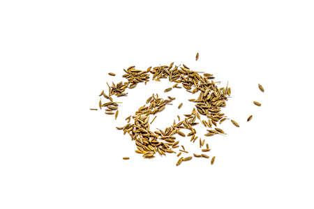 Zira cumin seeds on a white background. Standard-Bild