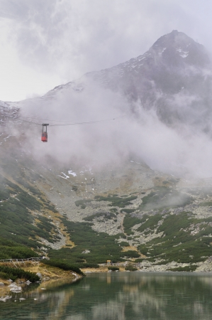 Cable car in the High Tatras - Skalnate pleso - Lomnicky peak - Slovakia