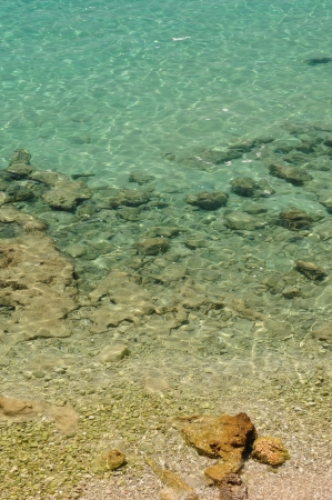 glistening: Crystal clear sea at beach Zlatni rat  Golden Cape  in Bol on island Brač in the Split-Dalmatia County of Croatia