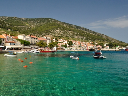 Amazing beach in Bol on island Brac in the Split-Dalmatia County of Croatia