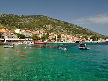 Amazing beach in Bol on island Brac in the Split-Dalmatia County of Croatia