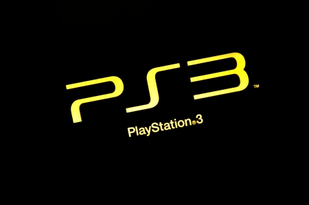 PlayStation 3 logo on isolated black background