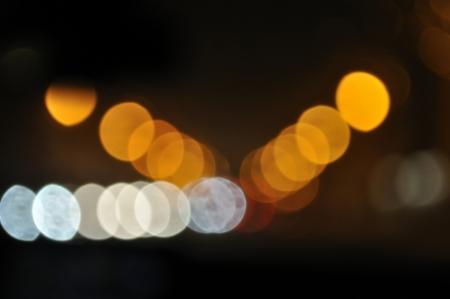 distant spot: Decorative neon lights on street