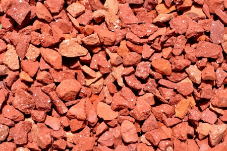 Background of small red rocks Stock Photo