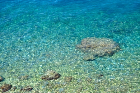 Amazing beach with crystal clear water  Podgora, Croatia photo