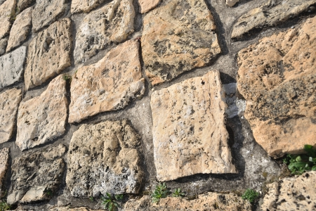 Stone pavement in detail and in perspective photo