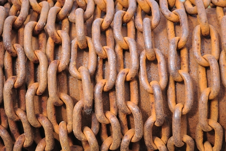 rusty chain: Abstract of Thick Rusty Chain Background