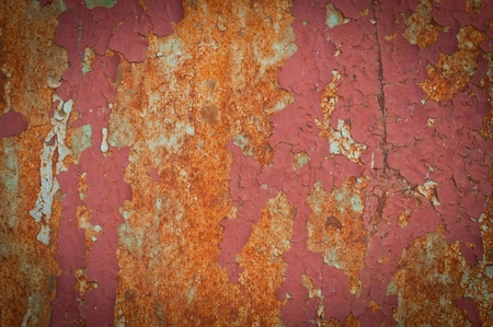Closeup of old rusty metal background