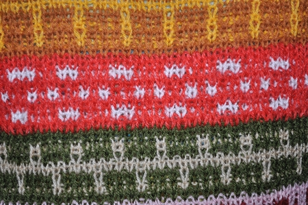 Background texture of colorful woolen knitted pattern