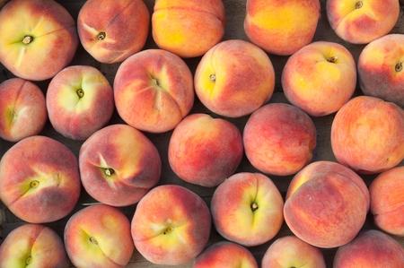 Fresh peach heap. Fruit background